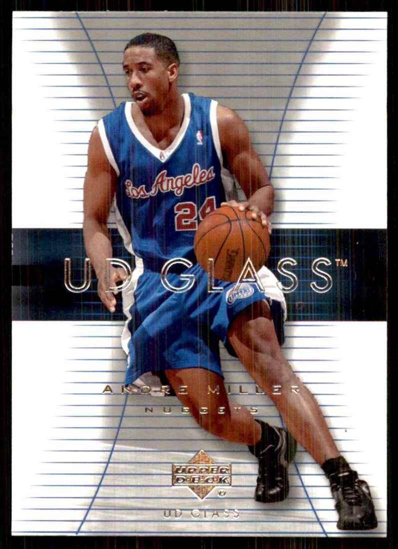 2003-04 UD Glass Andre Miller #12 card front image