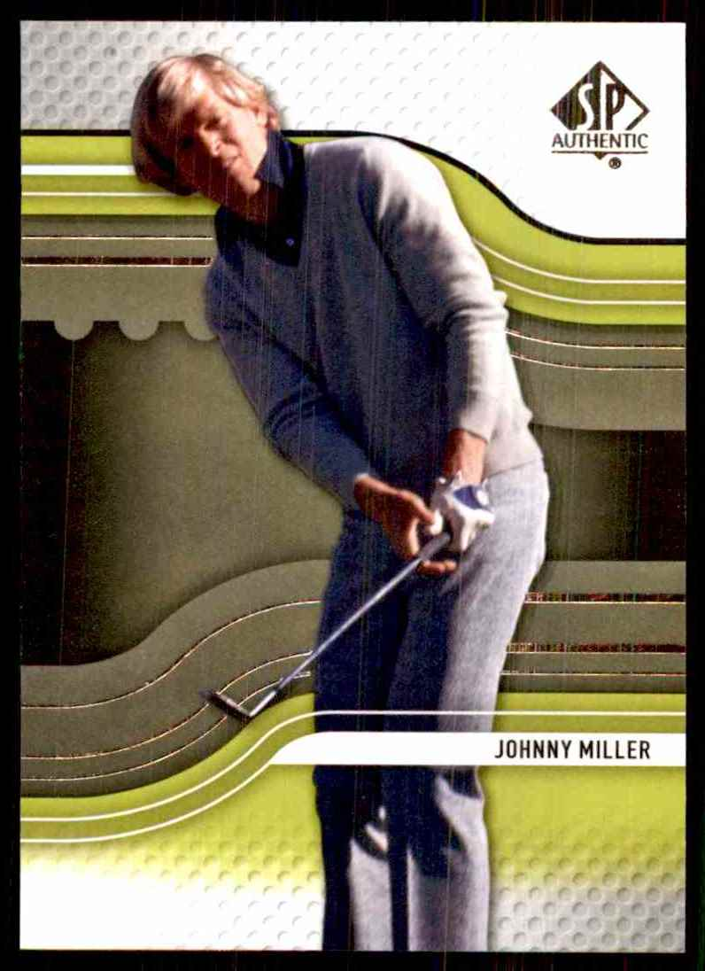 2012 SP Authentic Johnny Miller #7 card front image