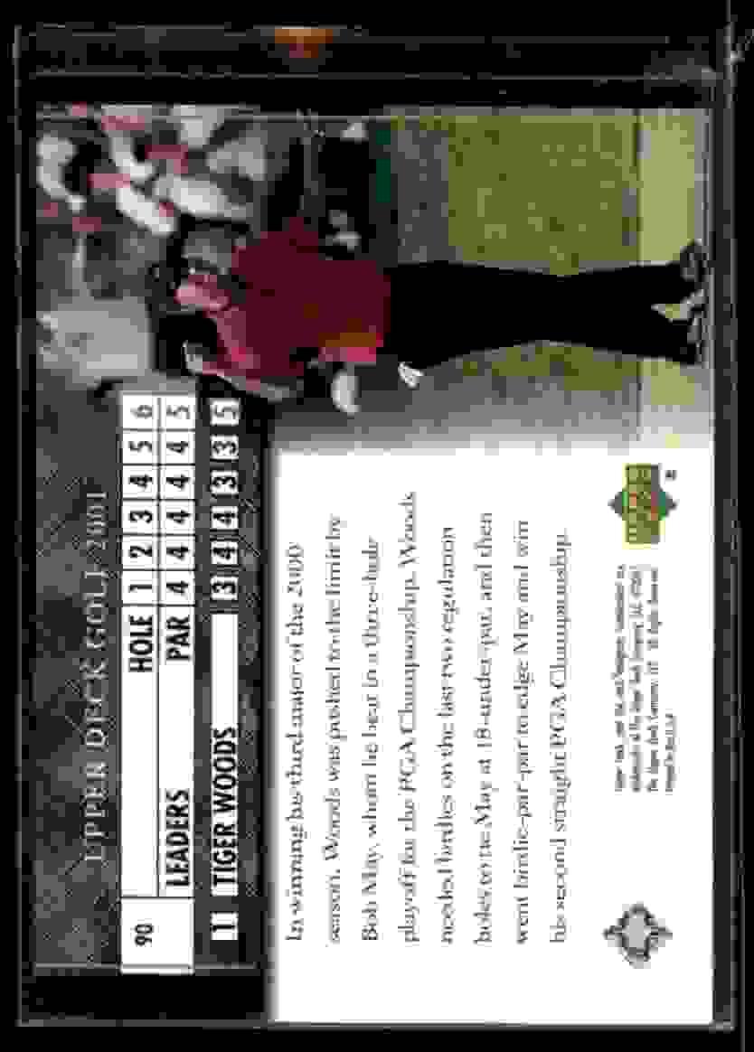 2001 Upper Deck Tiger Woods Lb #90 card back image
