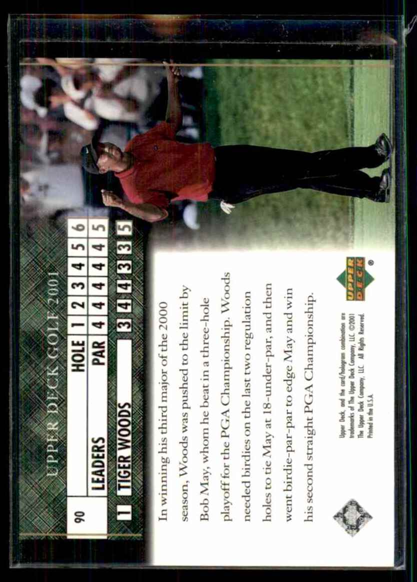 2001 Upper Deck Tiger Woods Lb #90 card back image