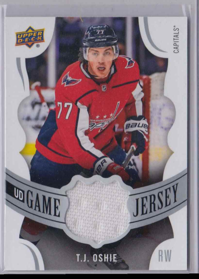 2018-19 Upper Deck Game Jerseys T.J Oshie #GJ-TO card front image