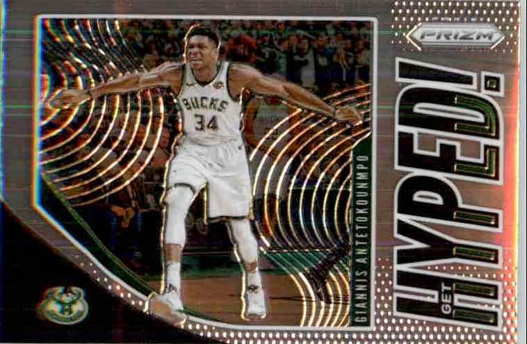 2019-20 Panini Prizm Basketball Prizm Giannis Antetokounmpo #3 card front image