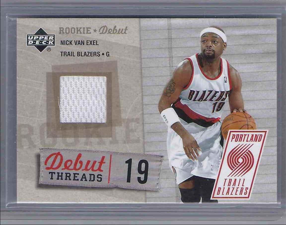 2005-06 Upper Deck Rookie Debut Threads Nick Van Exel #NV card front image