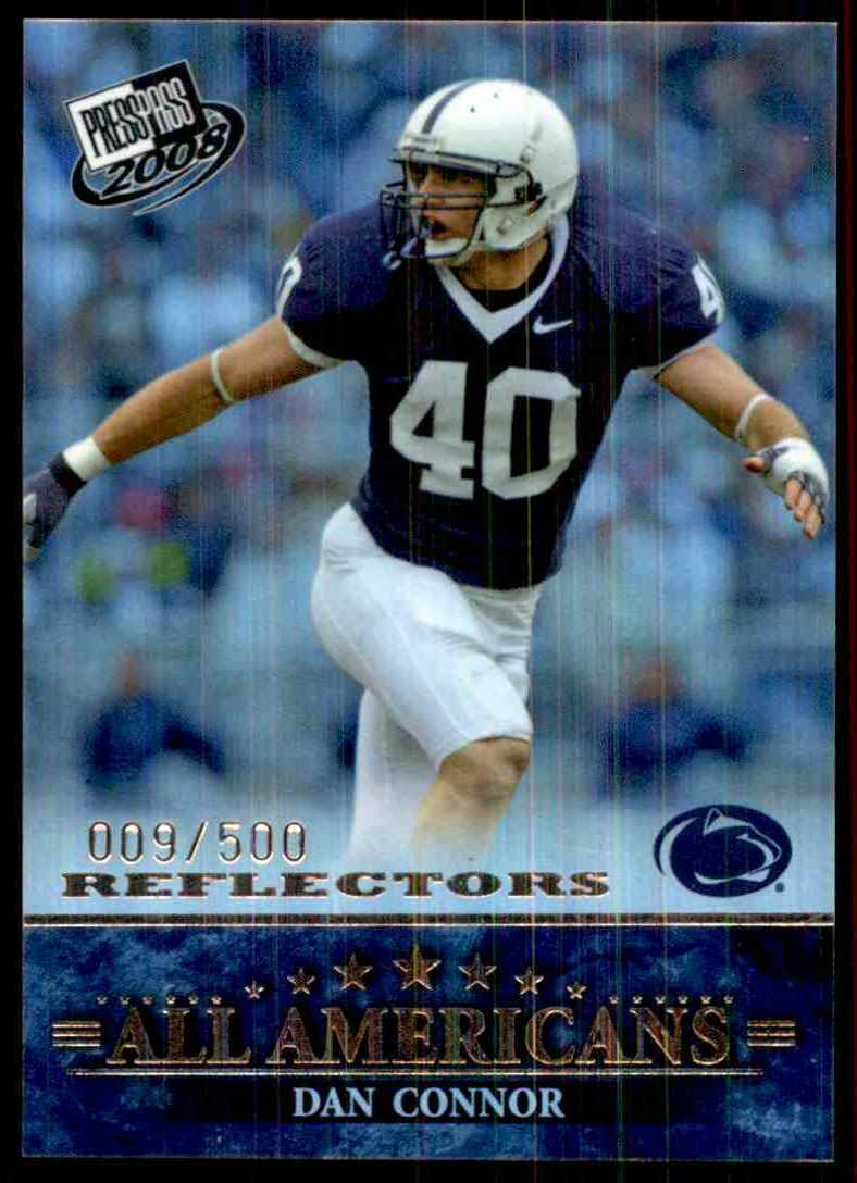 2008 Press Pass Reflectors Dan Connor AA #76 card front image