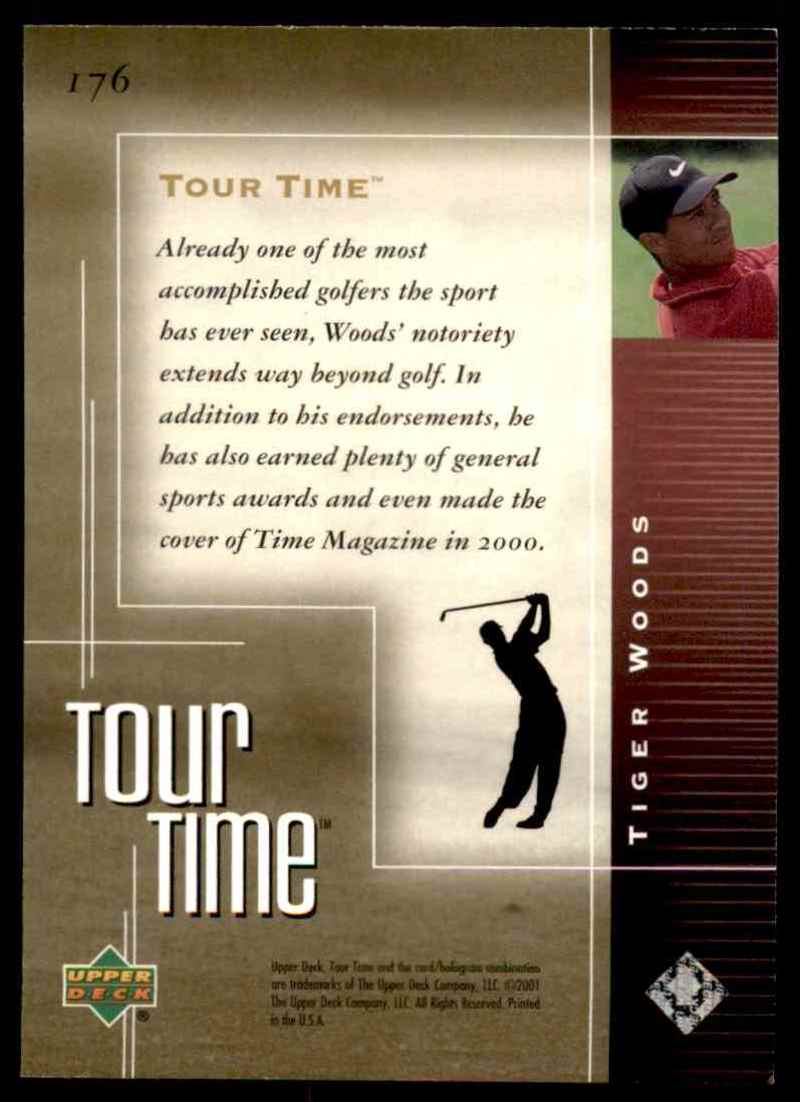2001 Upper Deck Tiger Woods Tt #176 card back image