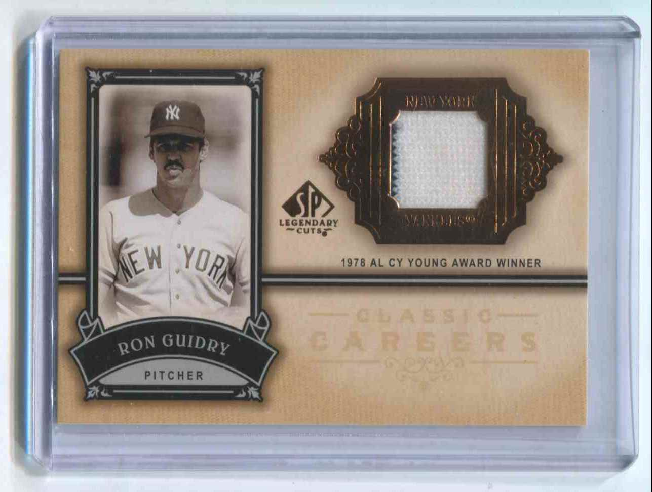 2005 SP Authentic Legendary Cuts Jersey Ron Guidry card front image 05da7eefcdd