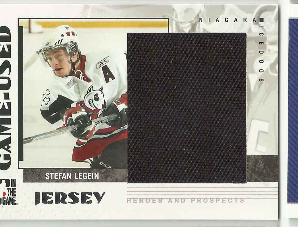 2007-08 In The Game Heroes And Prospects Jerseys Stefan Legein #53 card front image