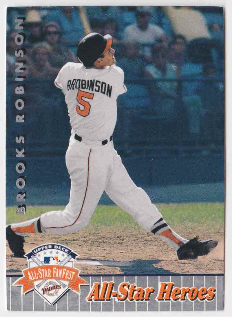 1992 Upper Deck All-Star Heroes Brooks Robinson #51 card front image