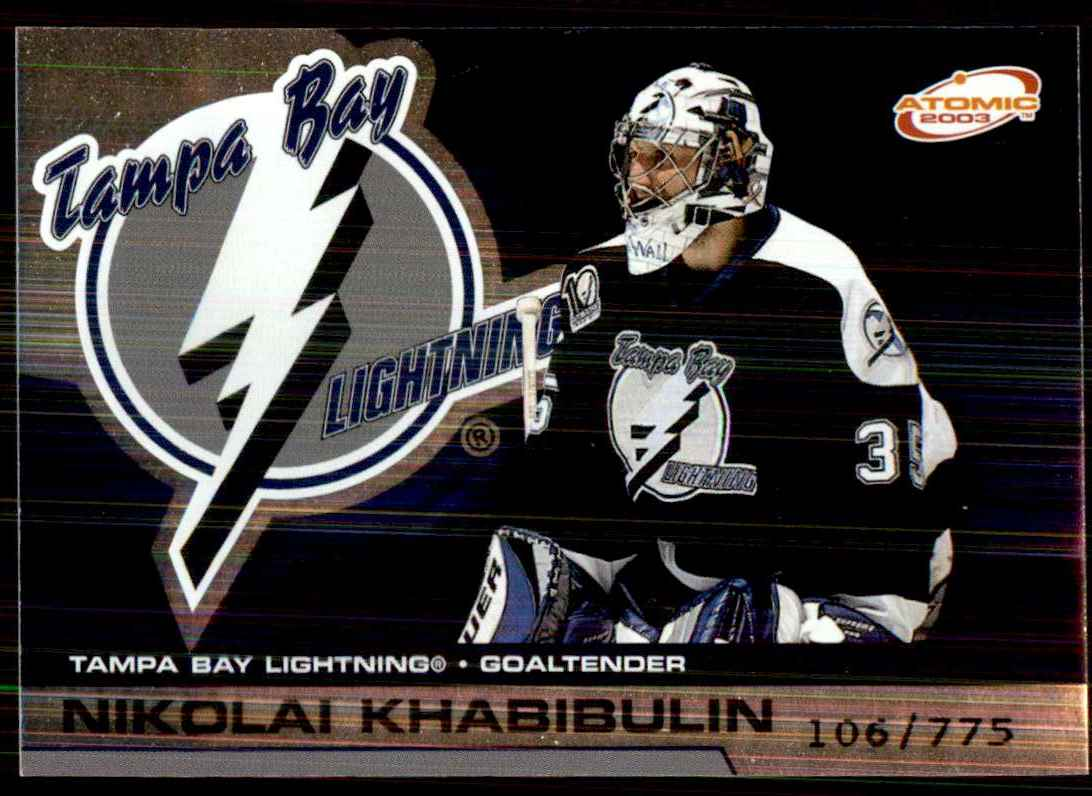 2002-03 Pacific Atomic Hobby Parallel Nikolai Khabibulin #89 card front image