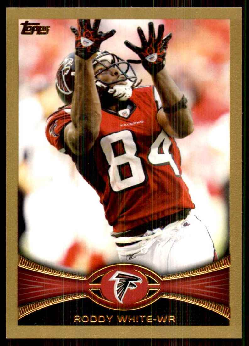 2012 Topps Gold Roddy White #290 card front image
