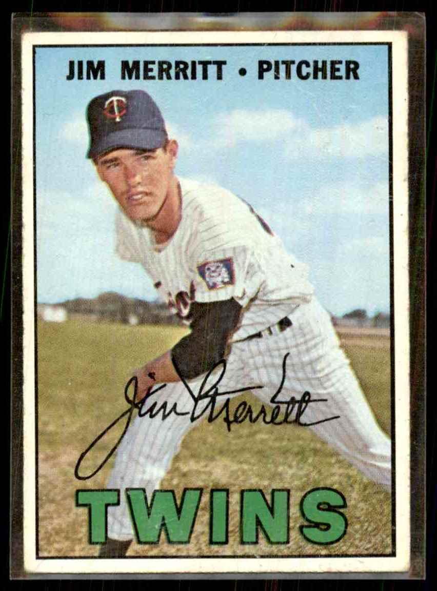 1967 Topps Jim Merritt #523 card front image