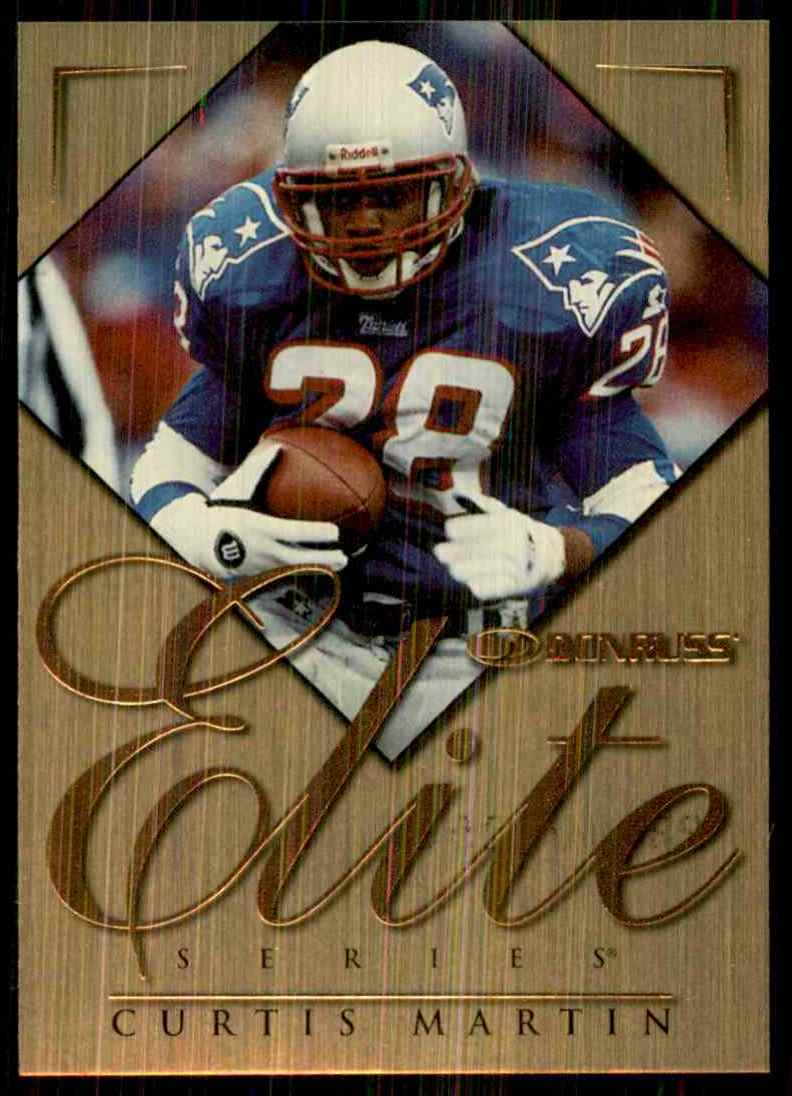 1998 Donruss Elite Promos Curtis Martin #14 card front image