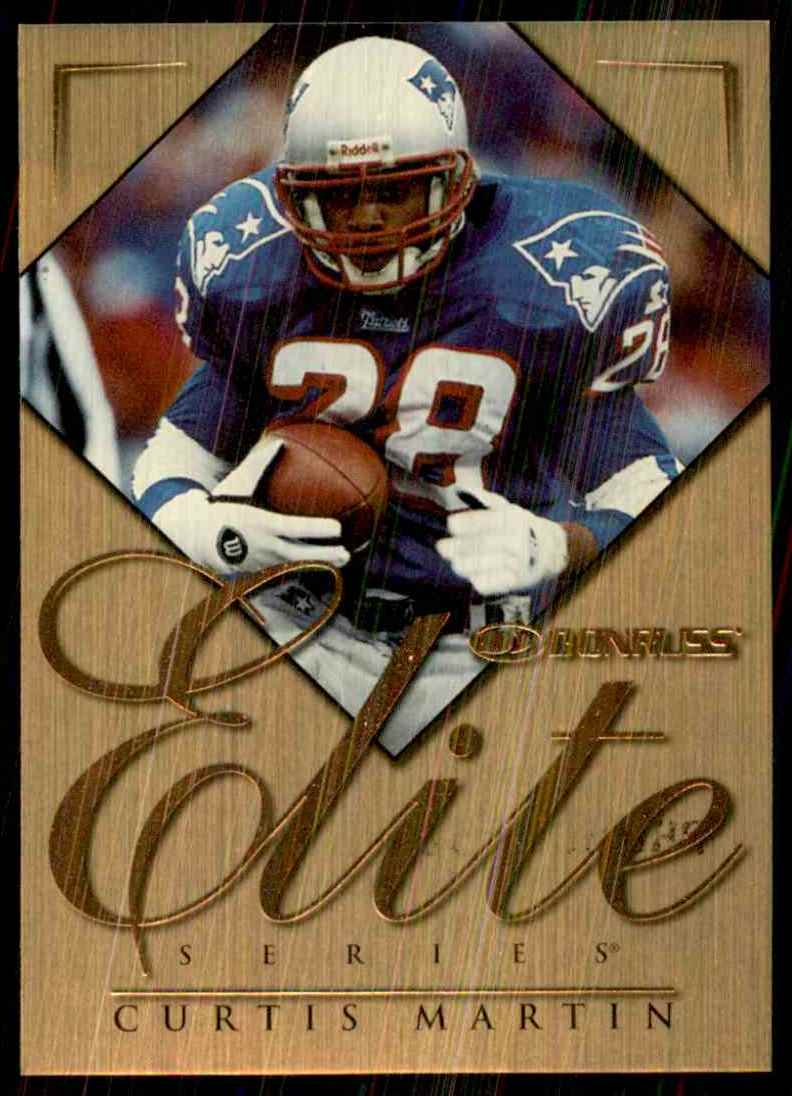1998 Donruss Elite Promos Curtis Martin #14 card front image