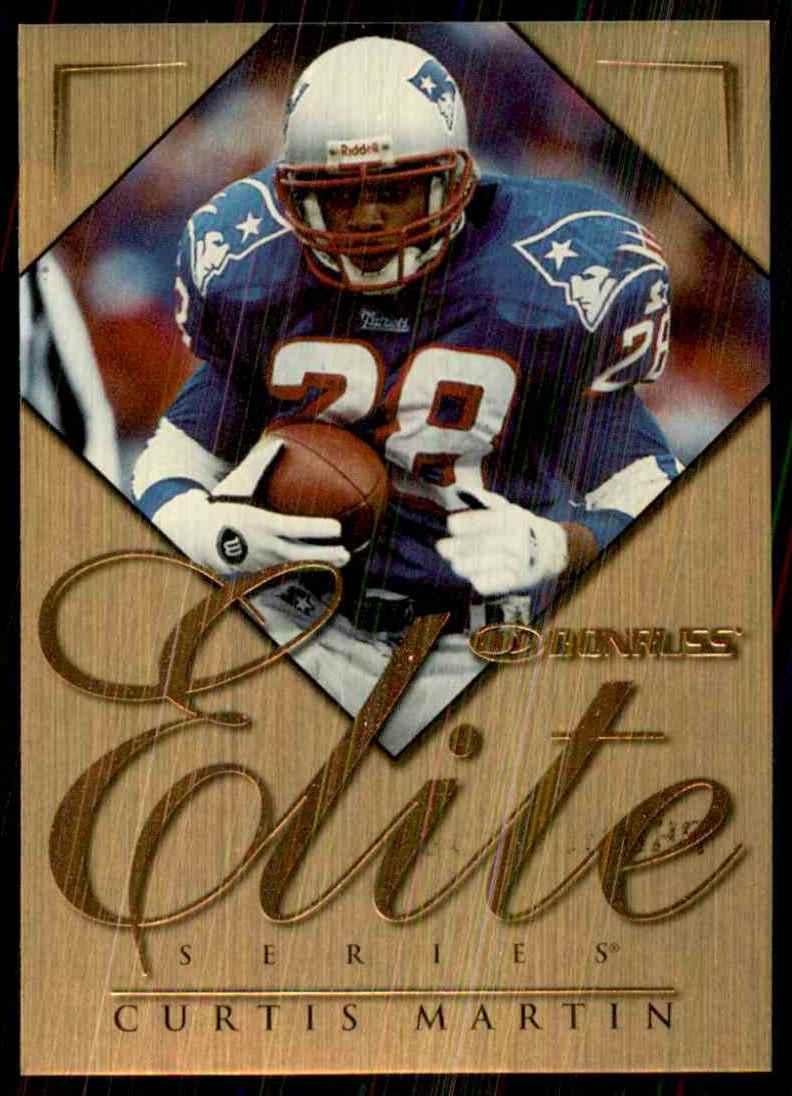 1997 Donruss Elite Promos Curtis Martin #4 card front image