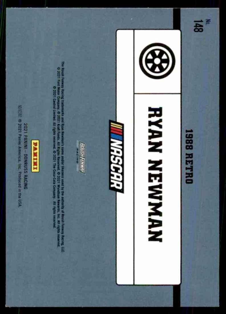 2021 Donruss Ryan Newman Retro #148 card back image