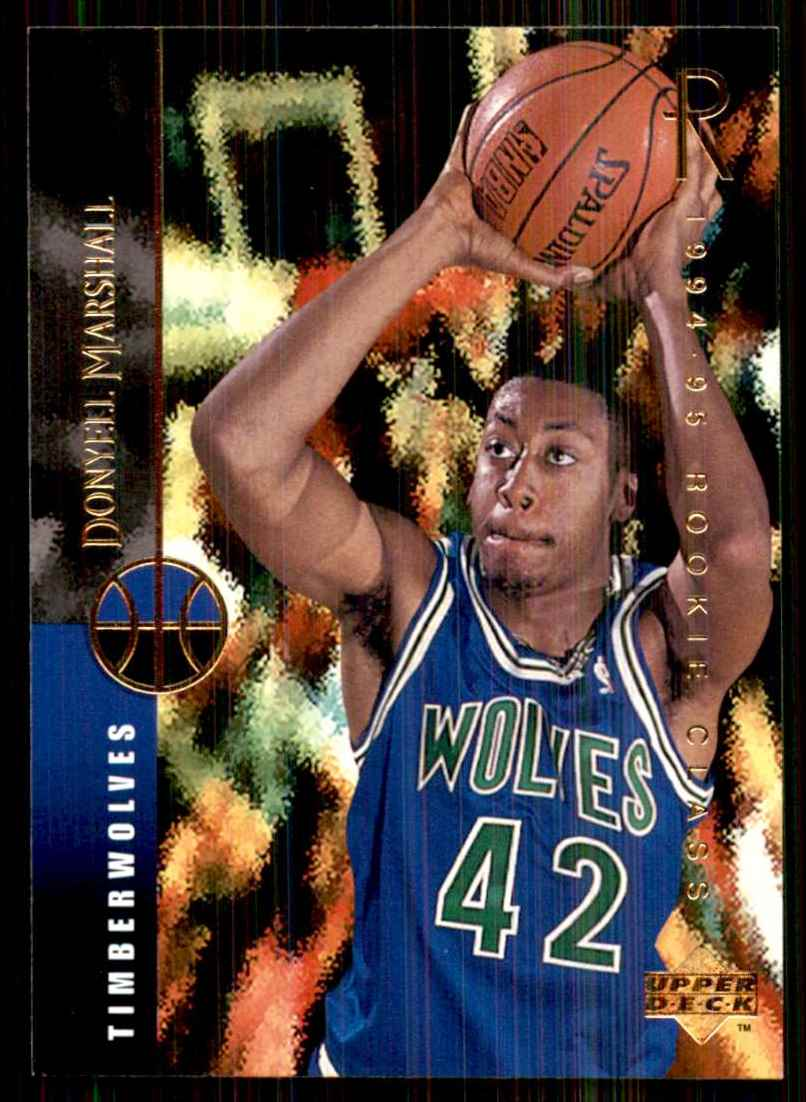1994-95 Upper Deck Donyell Marshall RC #163 card front image