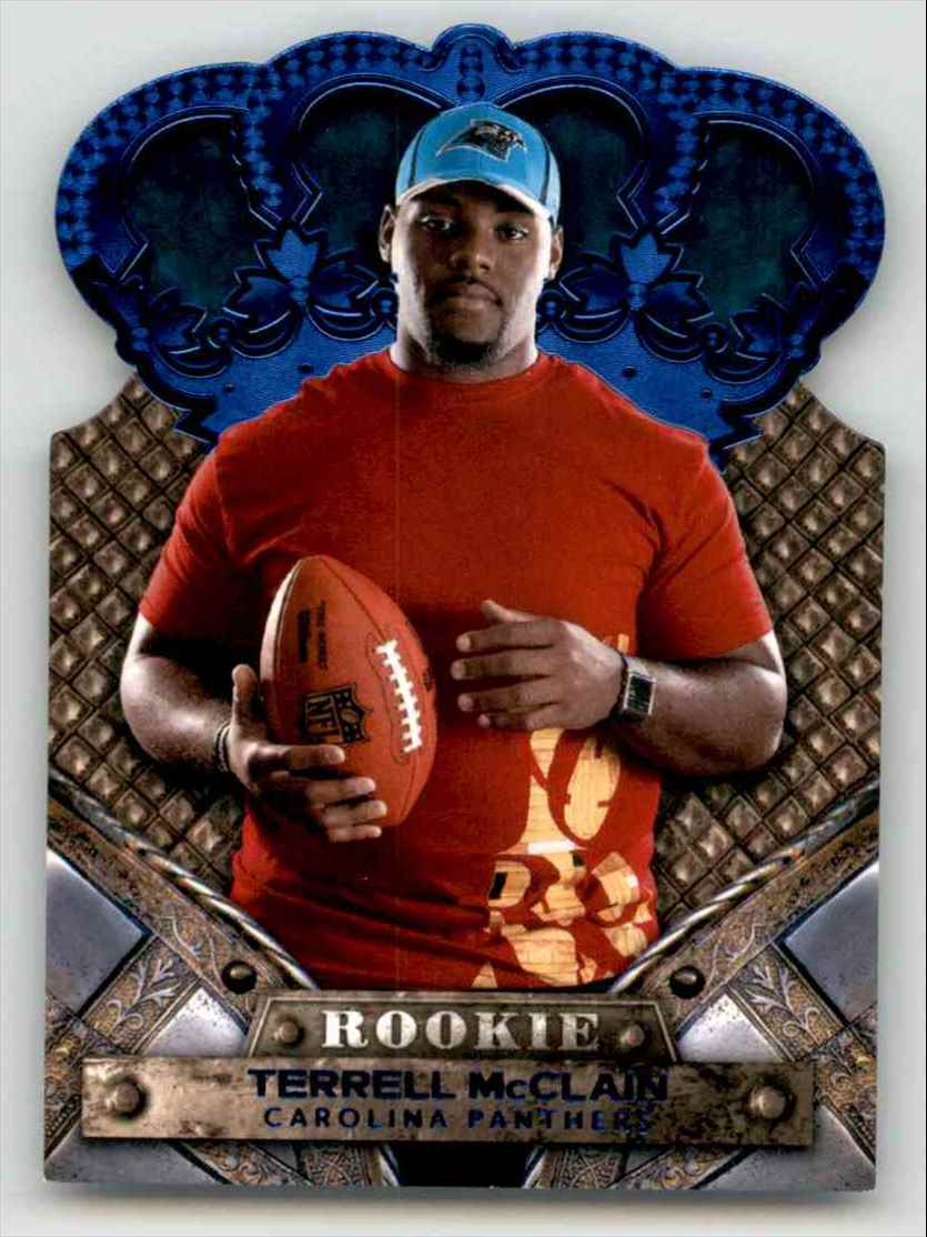 2011 Crown Royale Blue Terrell McClain #196 card front image