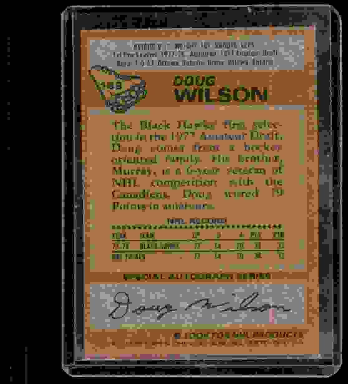 1978-79 Topps Doug Wilson #168 card back image