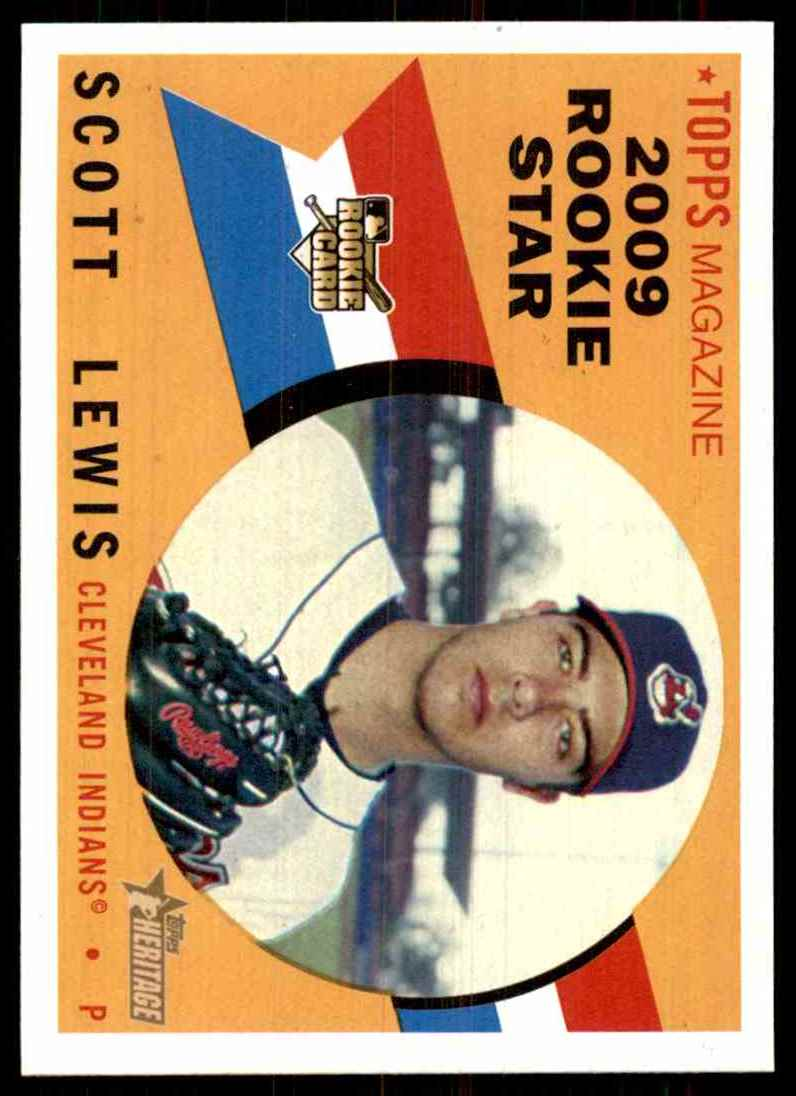 2009 Topps Heritage Scott Lewis (Rc) #112 card front image