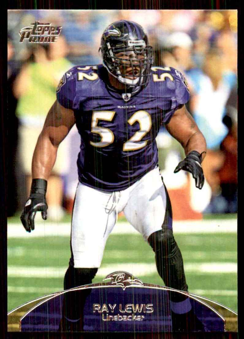 2011 Topps Prime Ray Lewis #104 card front image