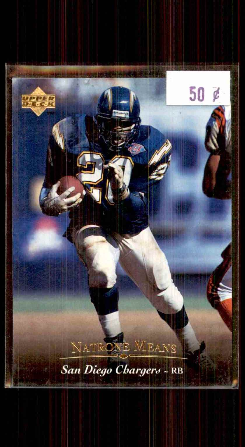 1995 Upper Deck Natrone Means #169 card front image