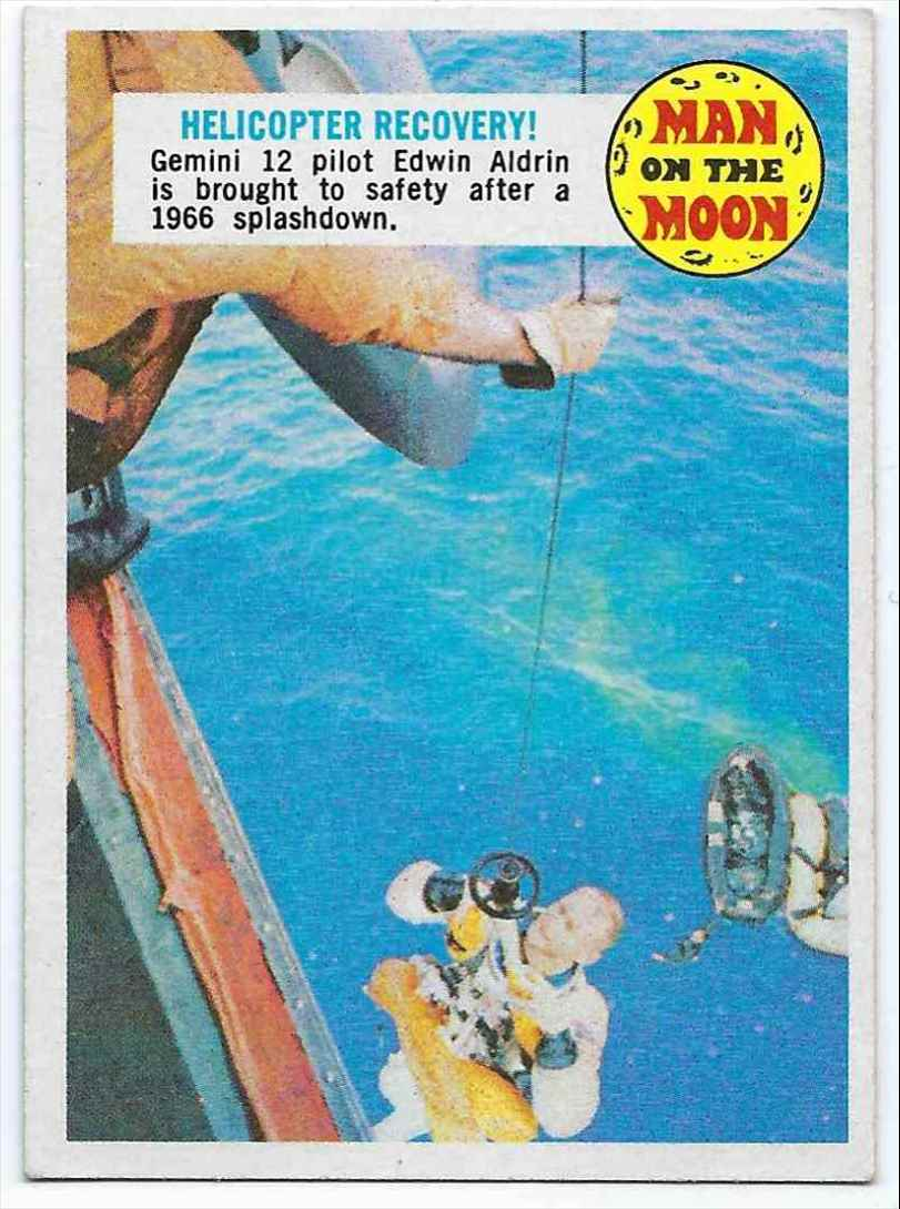 1969 Topps Man On The Moon Helicopter Recovery! #43 card front image