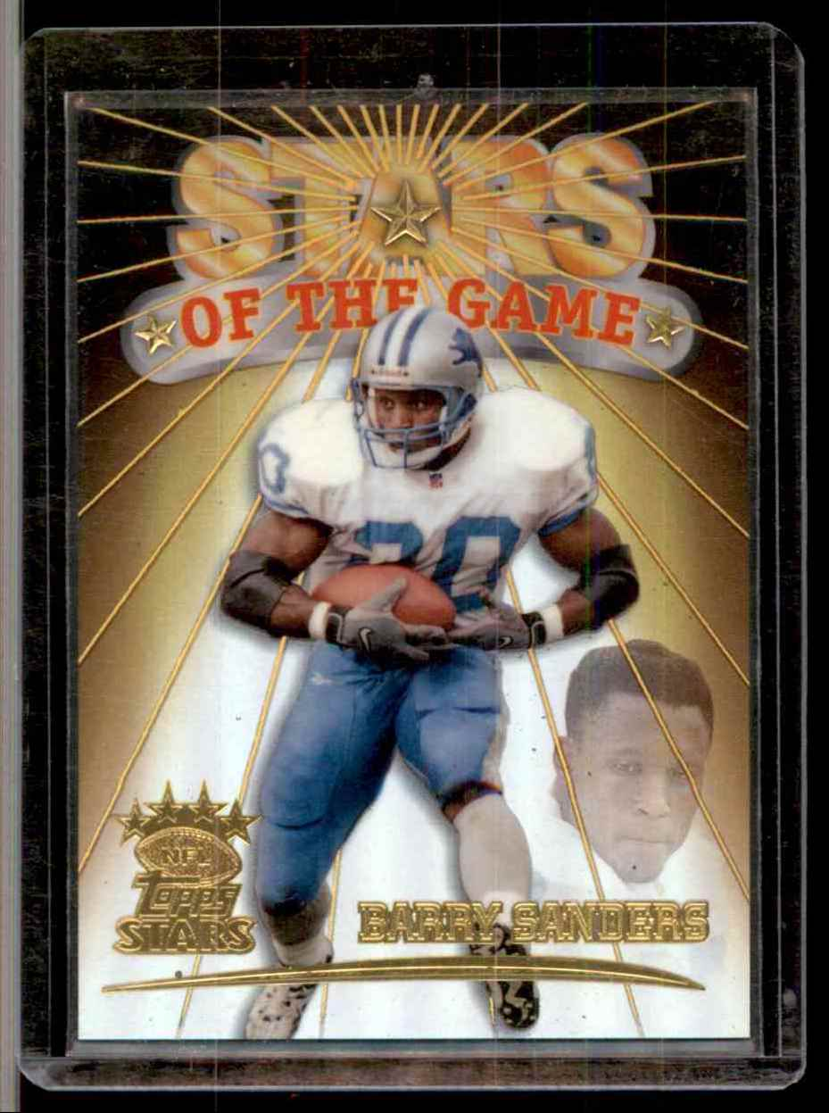 1999 Topps Stars Stars Of The Game Barry Sanders #S3 card front image