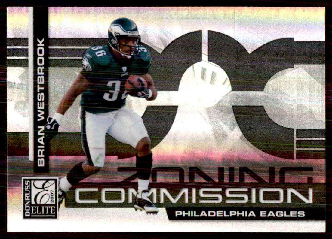 2007 Donruss Elite Zoning Commission Black Brian Westbrook #33 card front image