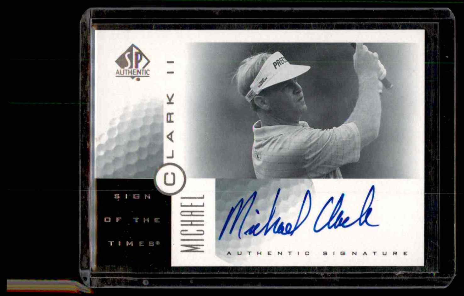 2001 SP Authentic Sign Of The Times Michael Clark #MC2 card front image