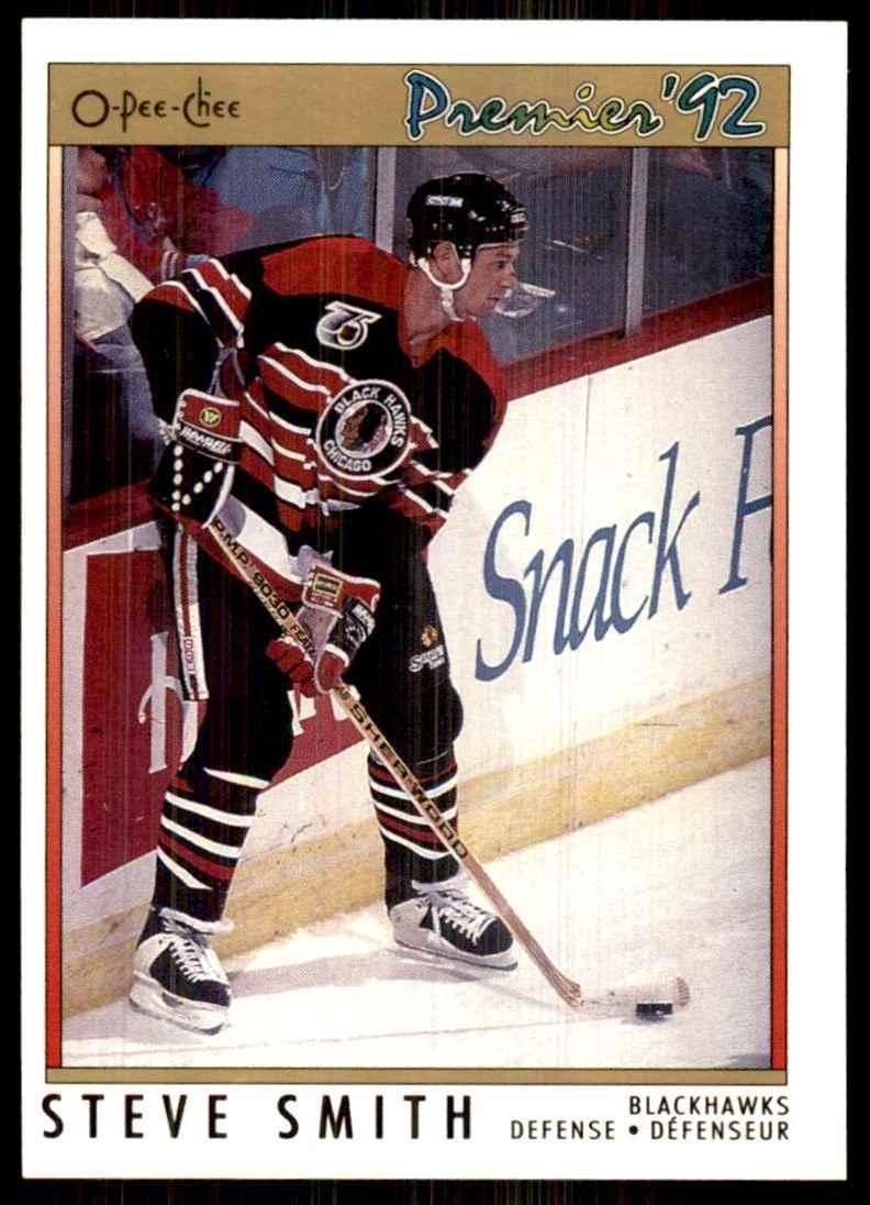 1991-92 OPC Premier Steve Smith #136 card front image