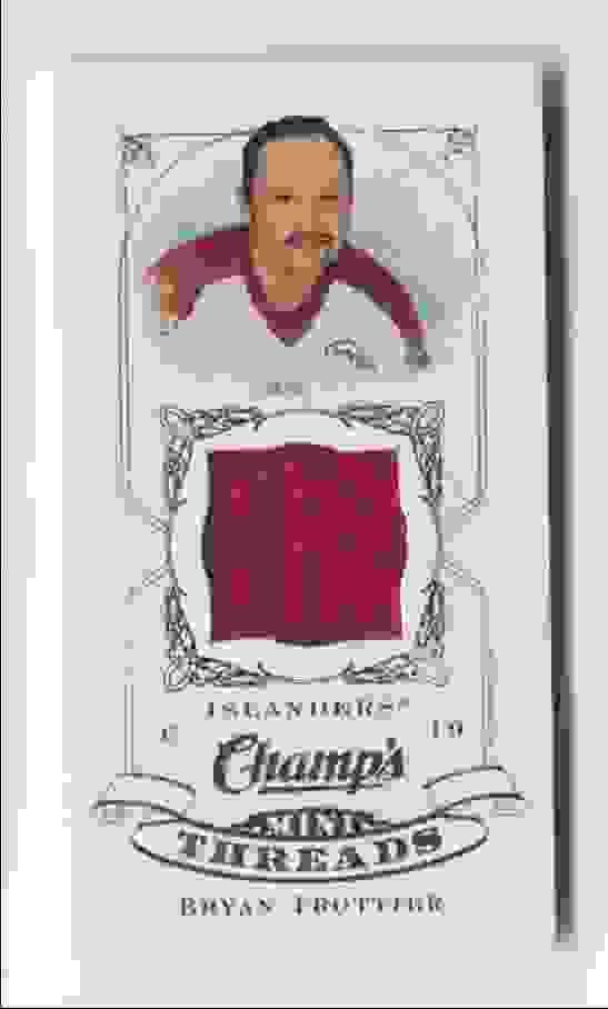 2008-09 Upper Deck Champ's Mini Threads Bryan Trottier #CT-BT card front image
