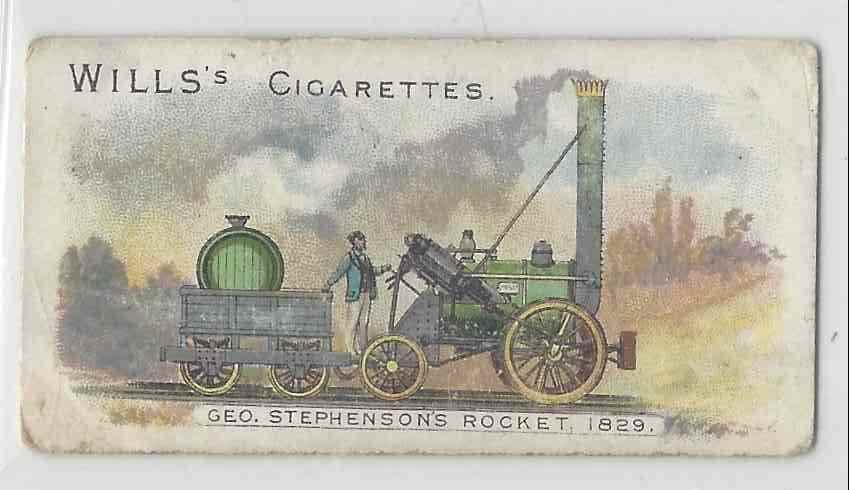 1901 Will's Locomotives & Rolling Stock Geo. Stephenson's Rocket 1828 #NON card front image