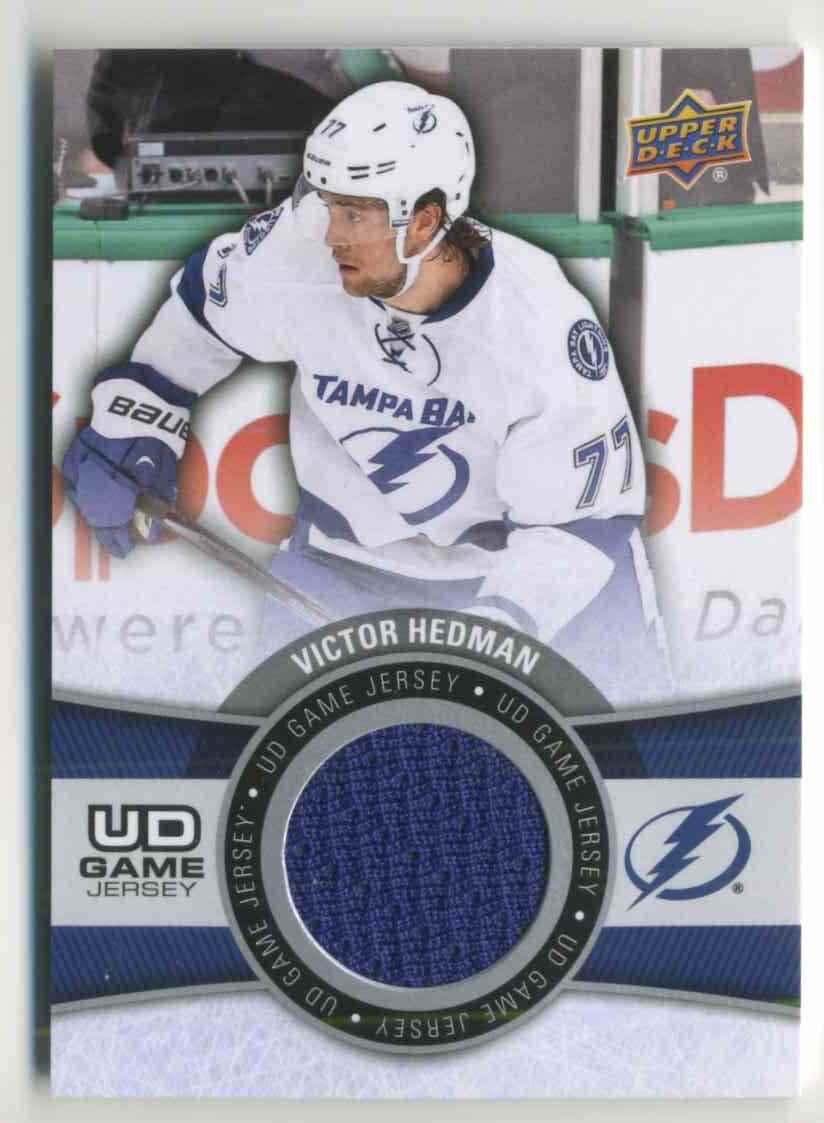 2015-16 Upper Deck Game Jersey Victor Hedman #GJ-VH card front image