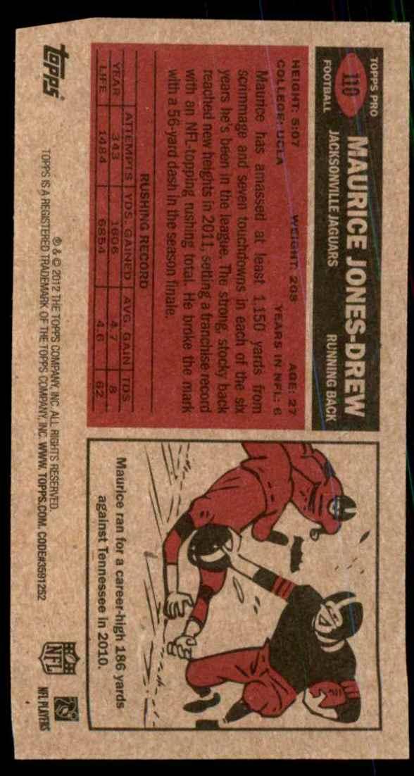 2012 Topps 1965 Mini Maurice Jones-Drew #110 card back image