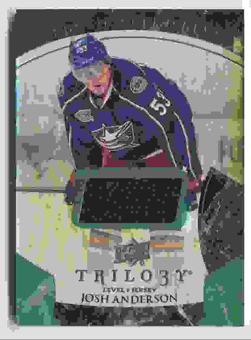 2015-16 Upper Deck Trilogy Rainbow Green Josh Anderson #122 card front image