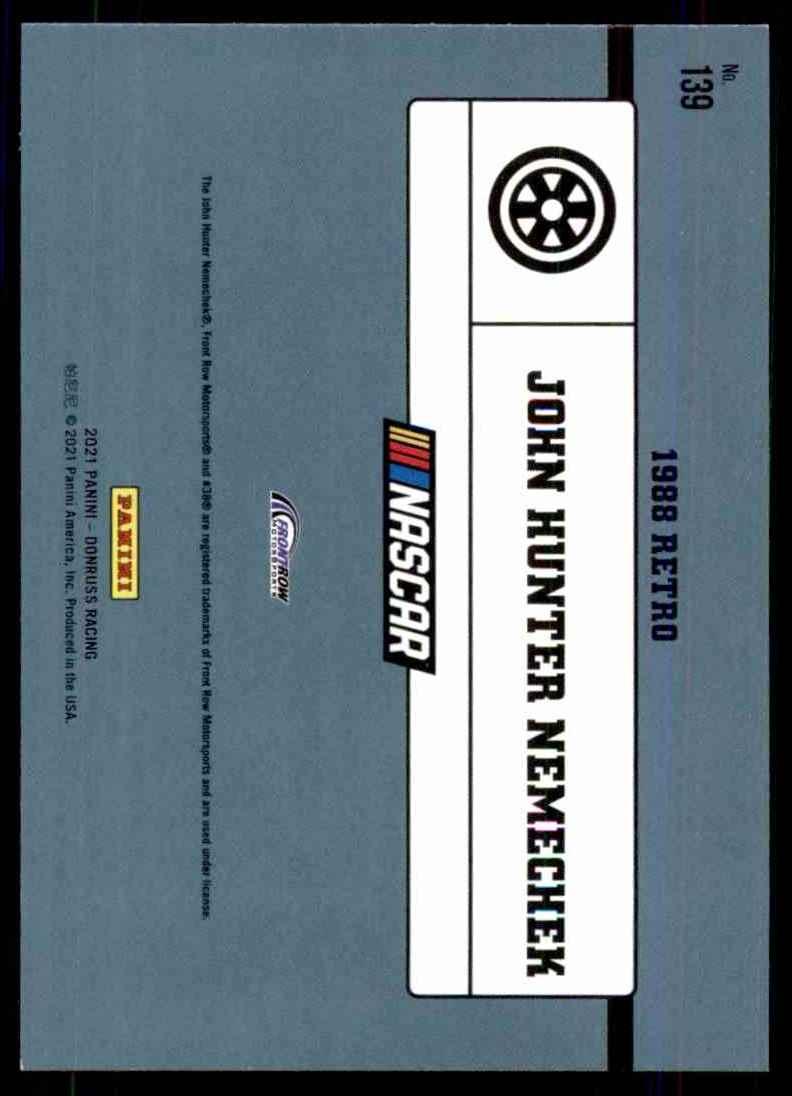 2021 Donruss John Hunter Nemechek Retro #139 card back image