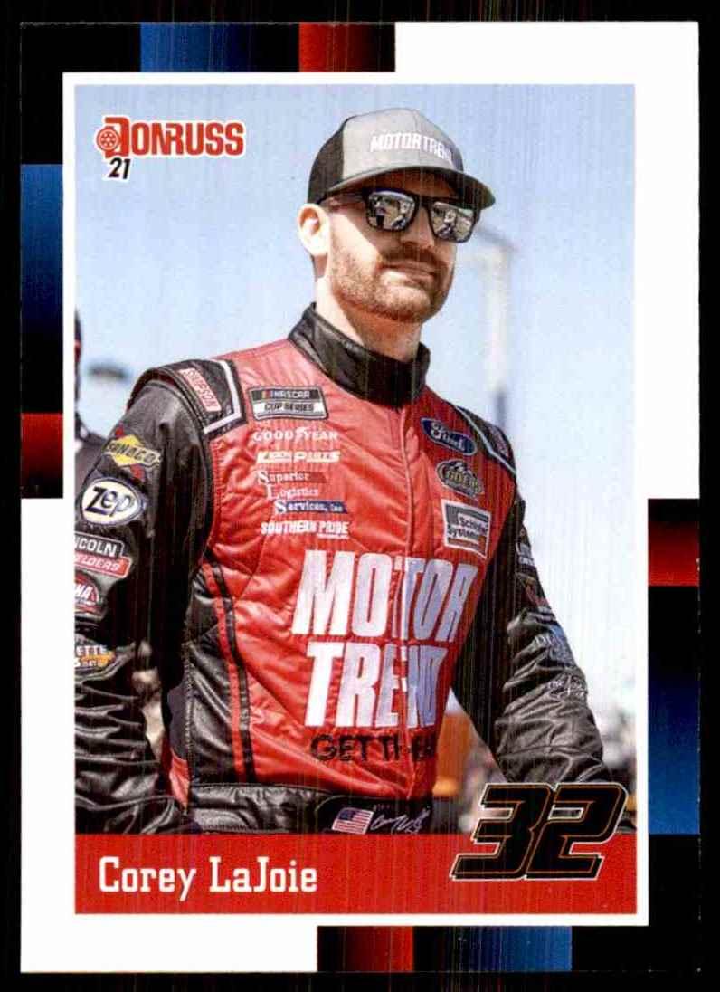 2021 Donruss Corey LaJoie Retro #175 card front image