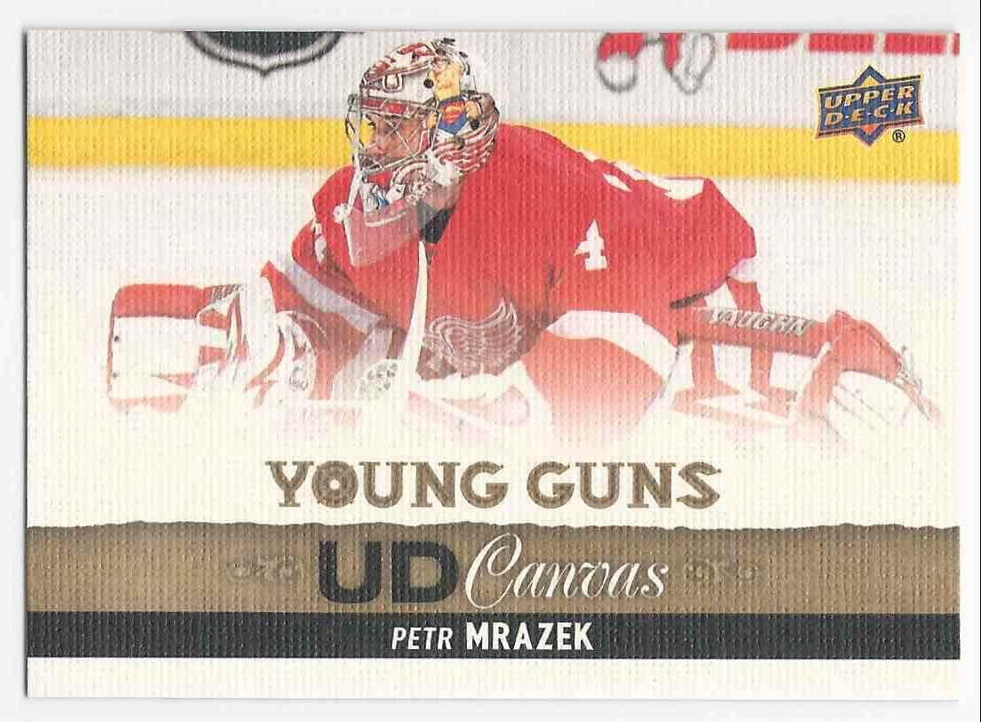 2013-14 Upper Deck Canvas Petr Mrazek #C107 card front image