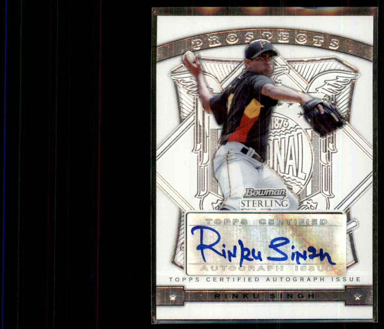 2009 Bowman Sterling Prospects Rinku Singh Au #RS card front image