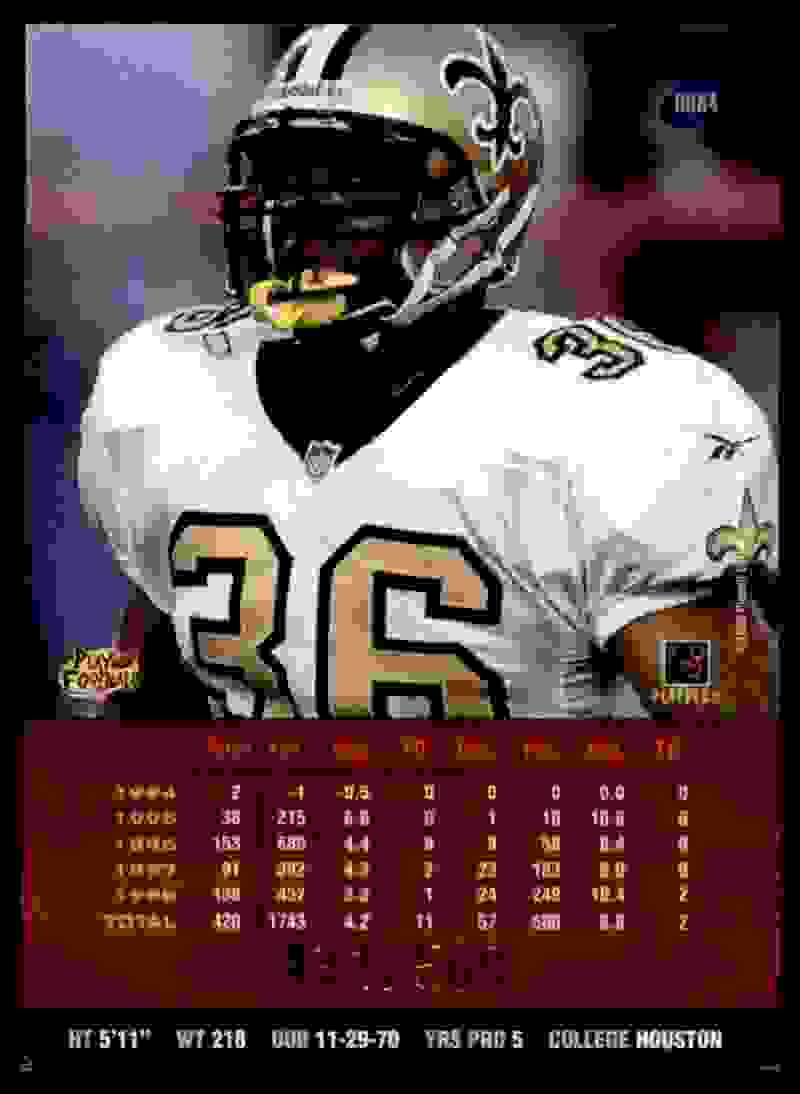 1999 Playoff Prestige Ssd Spectrum Purple Lamar Smith #84 card back image