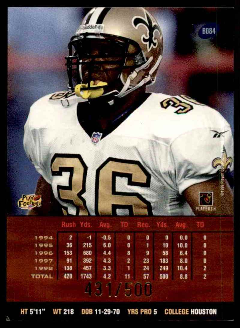 1999 Playoff Prestige Ssd Spectrum Purple Lamar Smith #84 card back image