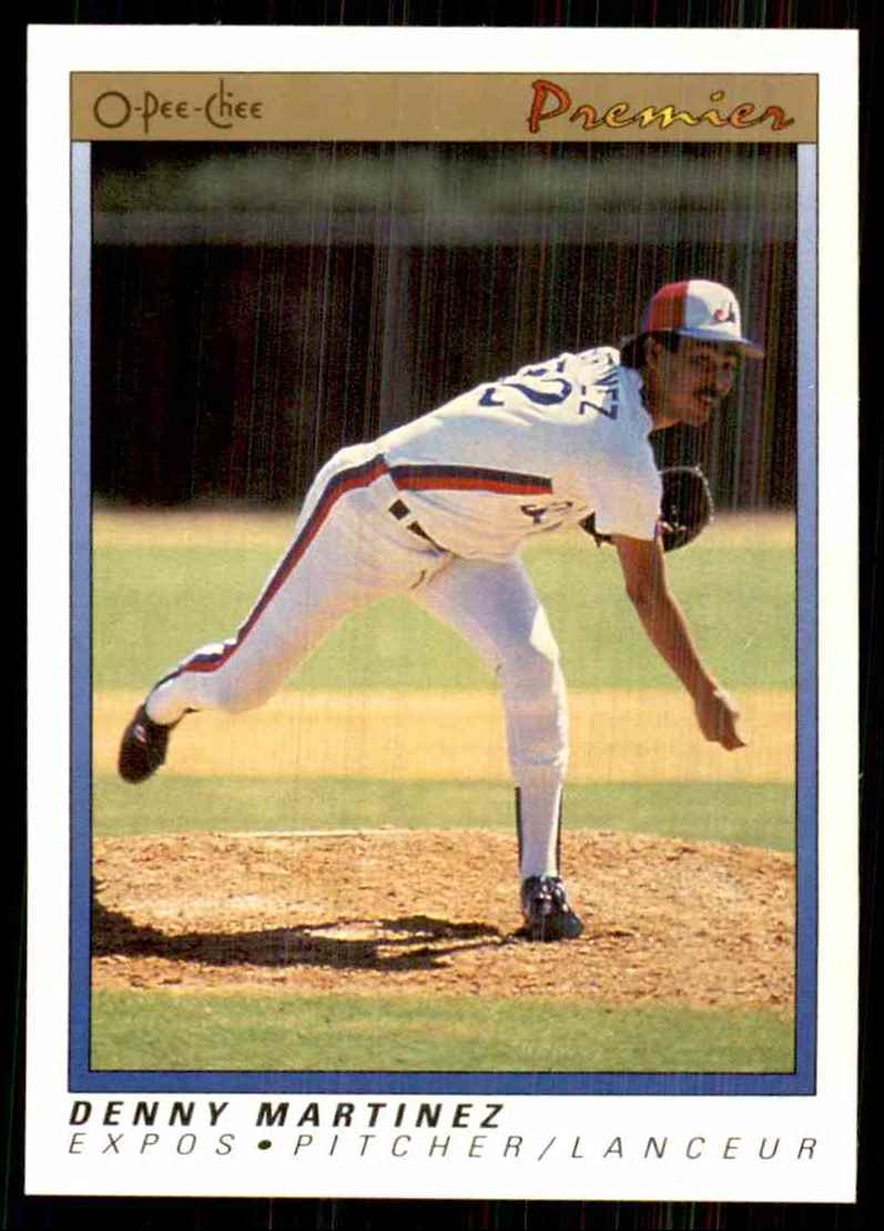 1991 O-Pee-Chee Premier Denny Martinez #75 card front image