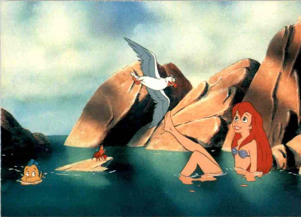 1991 Little Mermaid Ariel Happily Regards Her New Legs #55 card front image