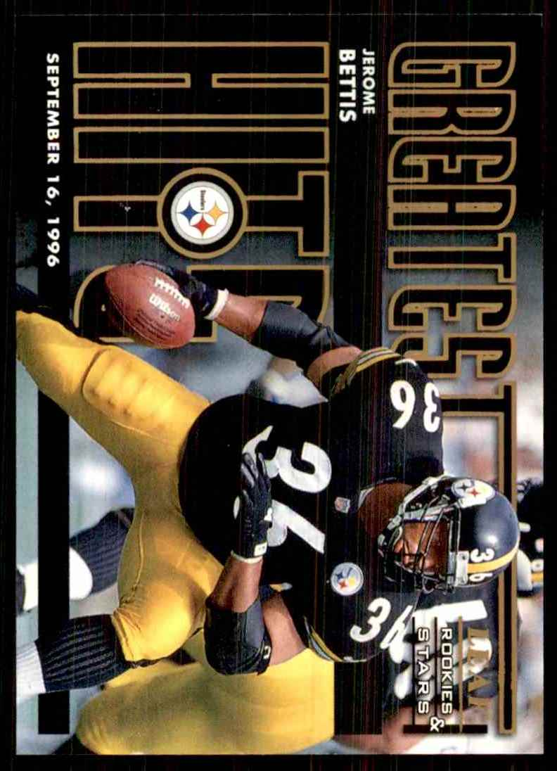 1998 Leaf Rookies & Stars Greatest Hits Jerome Bettis #19 card front image