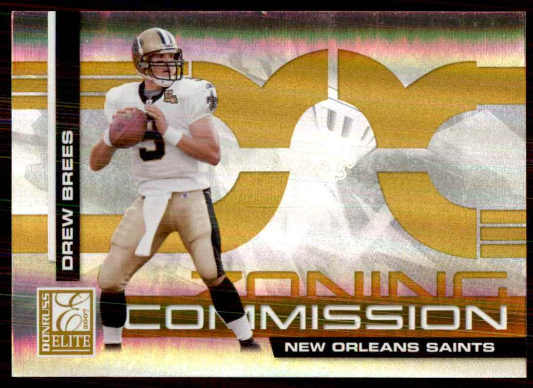 2007 Donruss Elite Zoning Commission Gold Drew Brees #2 card front image