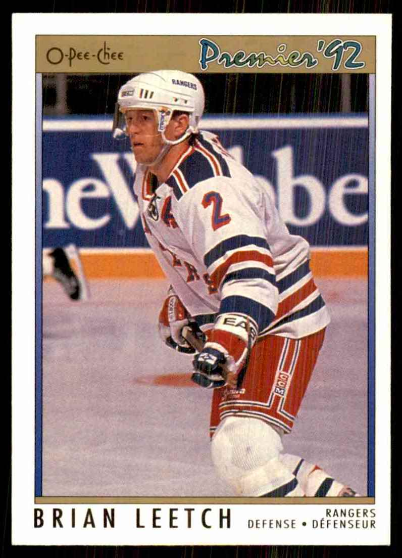 1991-92 OPC Premier Brian Leetch #57 card front image