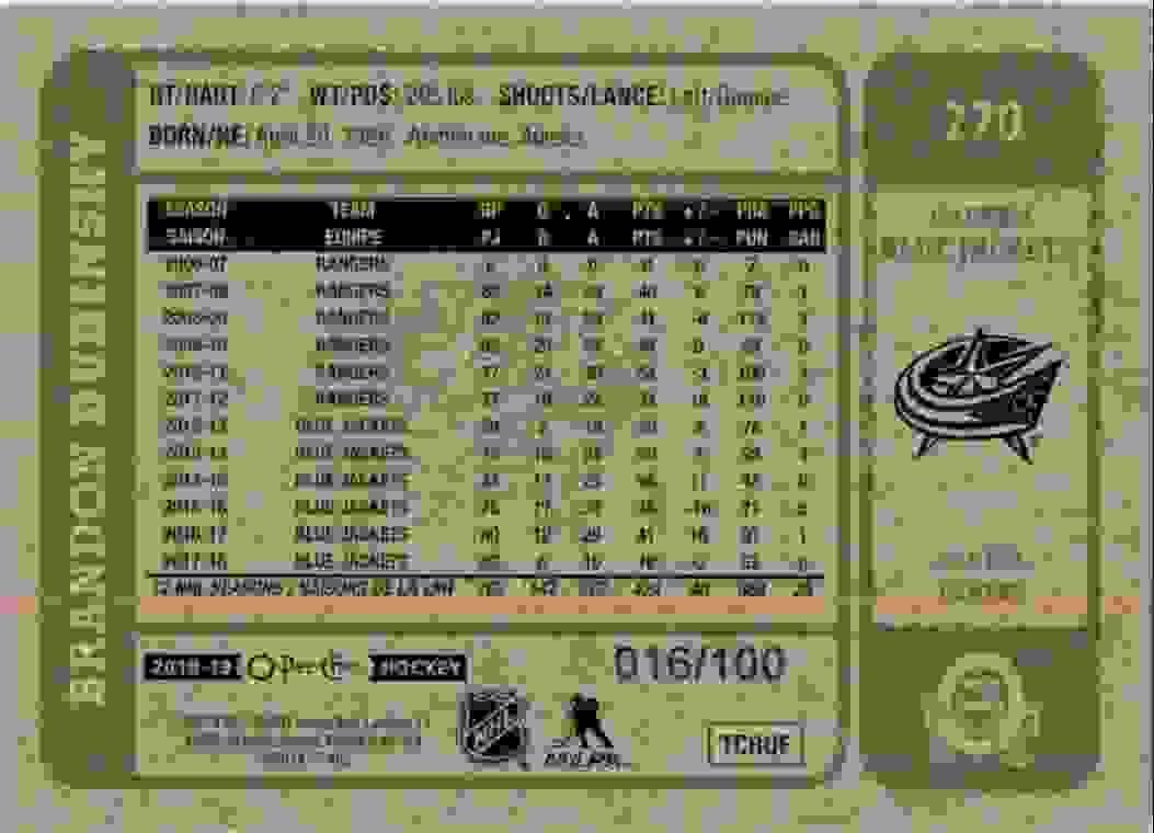 2018-19 O-Pee-Chee Retro Black Brandon Dubinsky #270 card back image