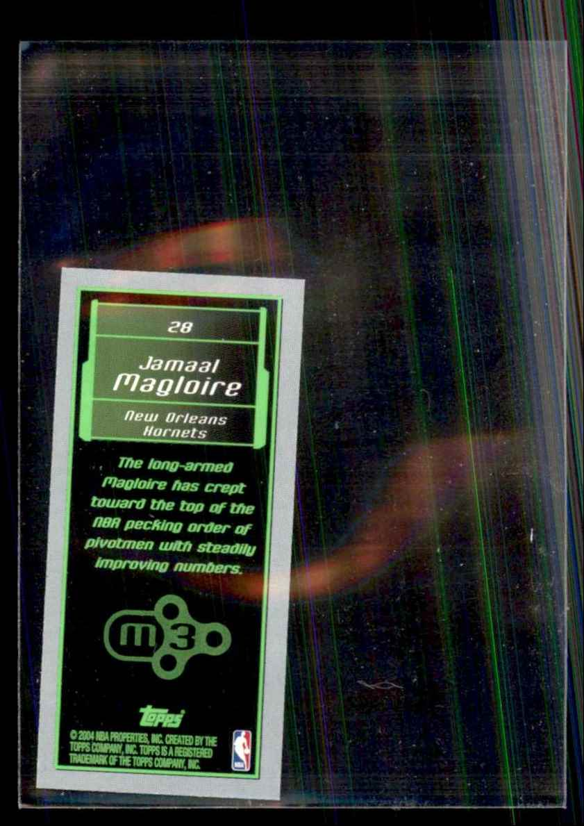 2003-04 Topps Rookie Matrix Minis Jamaal Magloire #28 card back image