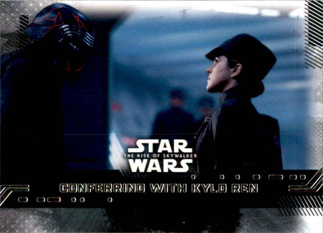 2019 Star Wars The Rise Of Skywalker Series One Conferring With Kylo Ren #97 card front image