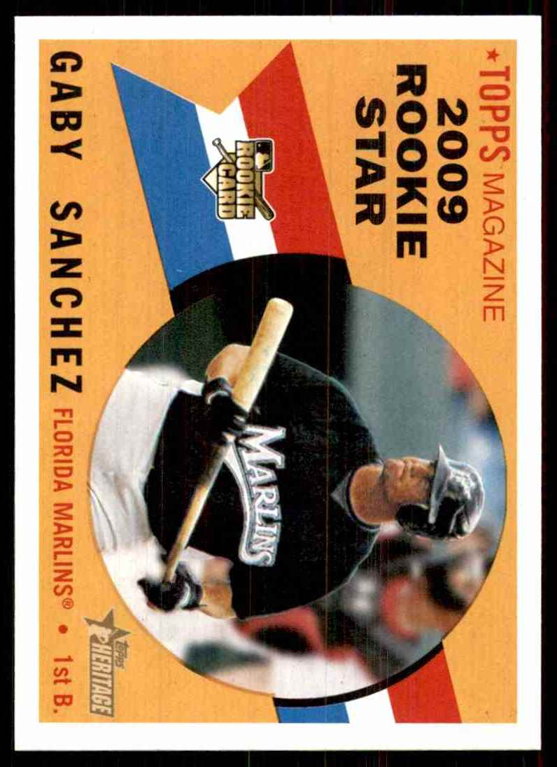 2009 Topps Heritage Gaby Sanchez RC #127 card front image